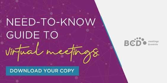 Need-to-Know Guide to Virtual Meetings_graphic | By BCD Meetings & Events