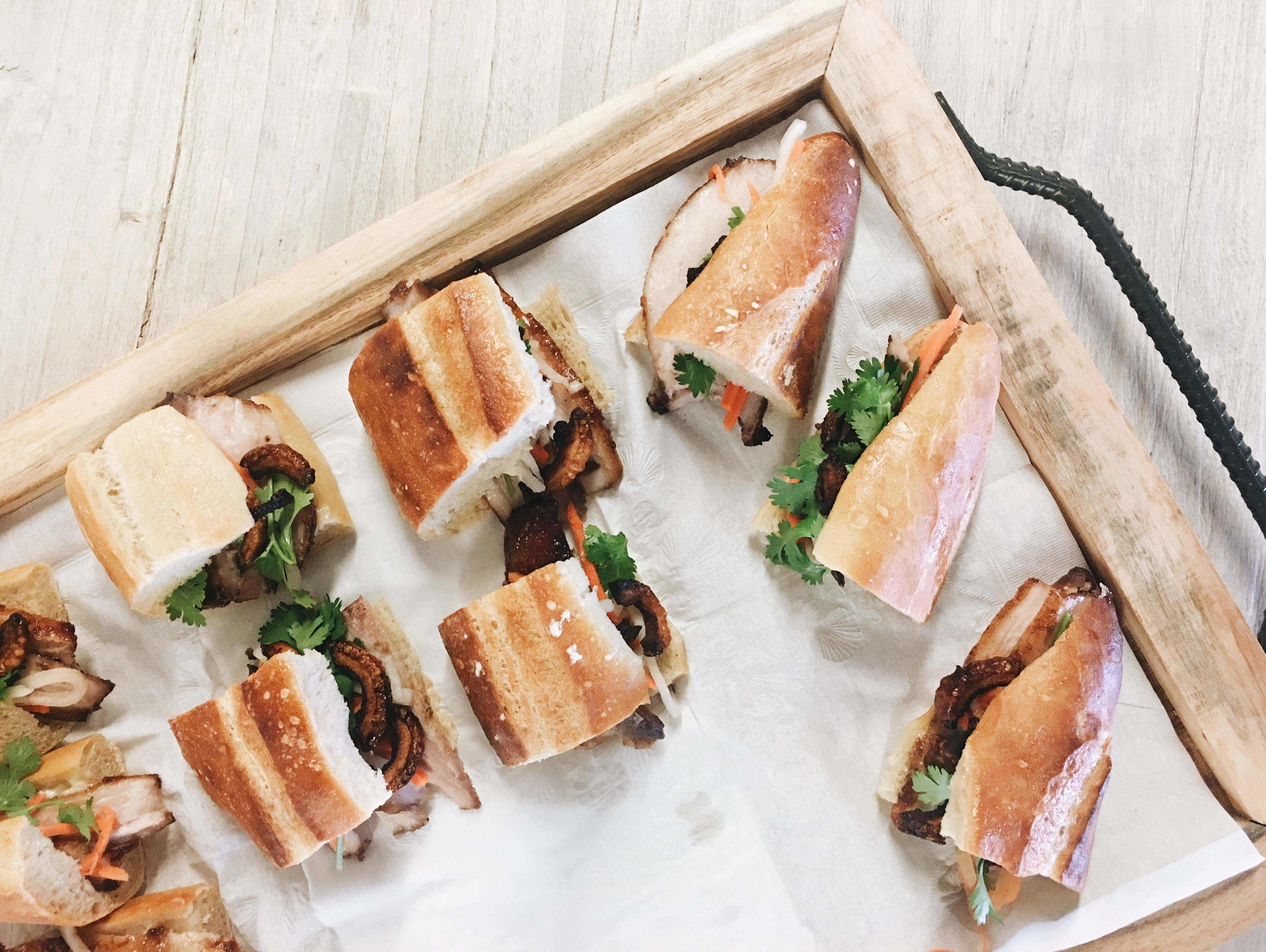 Catered sandwich tray for in-office speaker program | Global agency, BCD Meetings & Events