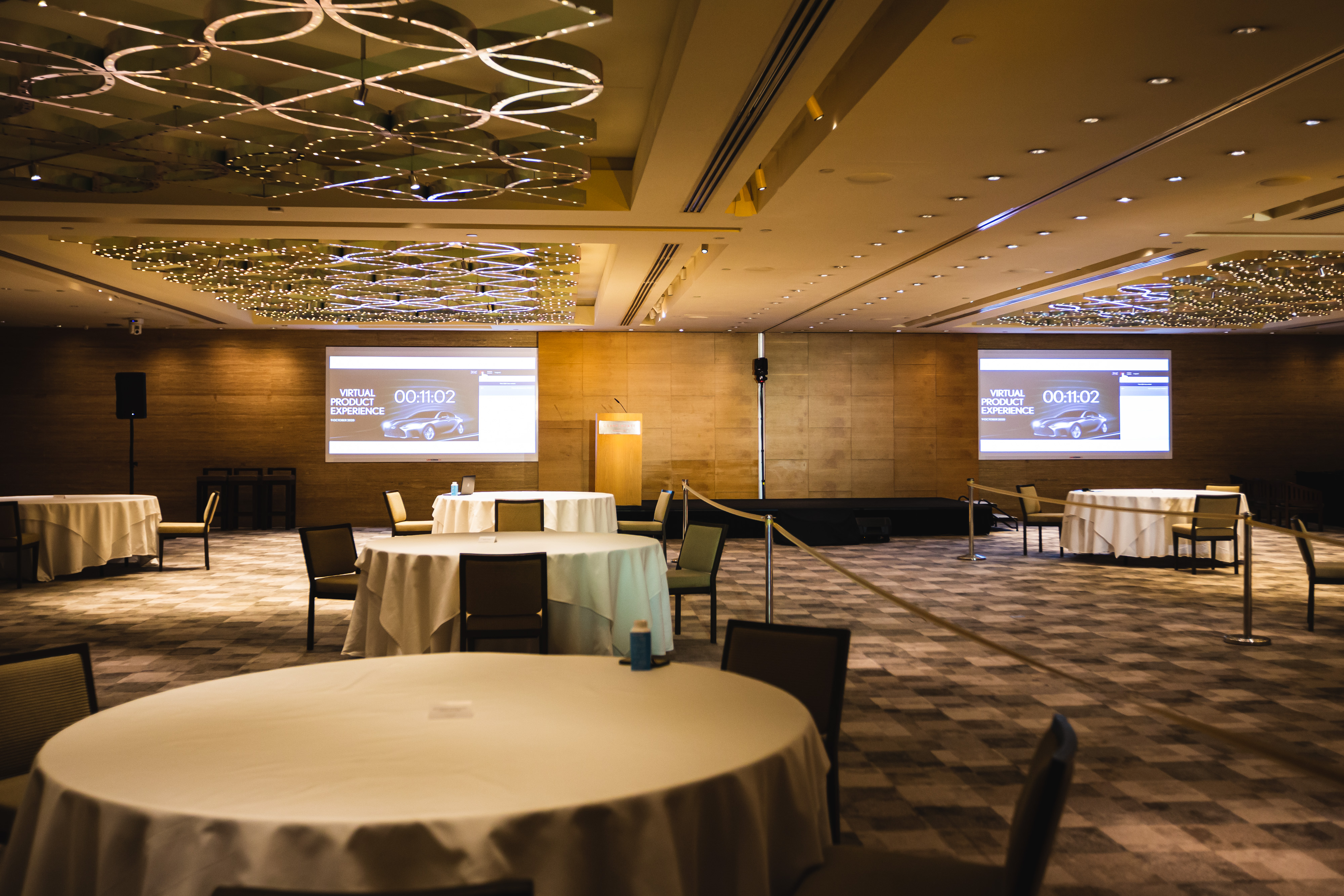 Room set up for BCD M&E's Hybrid Event Showcase | Global agency, BCD Meetings & Events